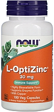 Kup Minerały L-OptiZinc, 30 mg - Now Foods L-OptiZinc Veg Capsules