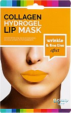 Kup Kolagenowa hydrożelowa maska do ust - Beauty Face Collagen Hydrogel Lip Mask Wrinkle Smooth Effect
