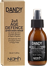 Serum do twarzy po goleniu dla mężczyzn - Niamh Hairconcept Dandy 2 in 1 Age Defence Aftershave Serum — фото N1