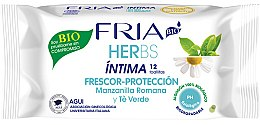 Kup Orzeźwiające chusteczki do higieny intymnej Rumianek i zielona herbata - Fria Herbs Intimate Hygiene Wipes