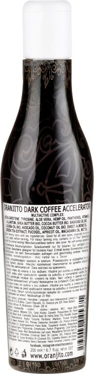 Emulsja przyspieszająca opalanie - Oranjito Dark Coffee Super Brown Skin Accelerator — фото N2