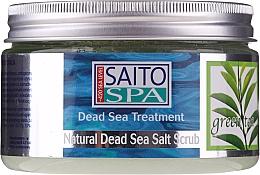 Kup Solny peeling do ciała Zielona herbata - Saito Spa Aalt Body Scrub Green tea