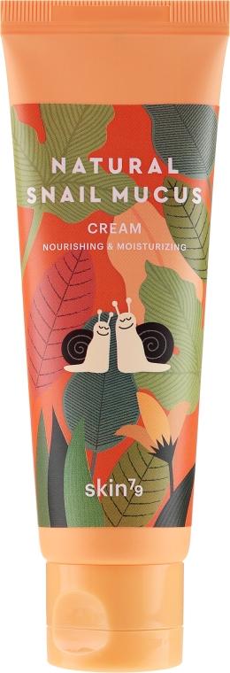 Odżywczo-nawilżający krem ze śluzem ślimaka - Skin79 Natural Snail Mucus Cream — фото N2