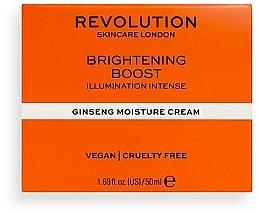 Kup Nawilżający krem do twarzy z żeń-szeniem - Revolution Skincare Moisture Cream With Ginseng Brightening Boost