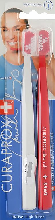 Zestaw szczoteczek do zębów Duo Martina Hingis, biało-czerwony - Curaprox — фото N1