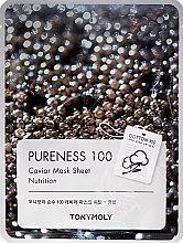 Kup Maseczka na tkaninie Czarny kawior - Tony Moly Pureness 100 Caviar Mask Sheet