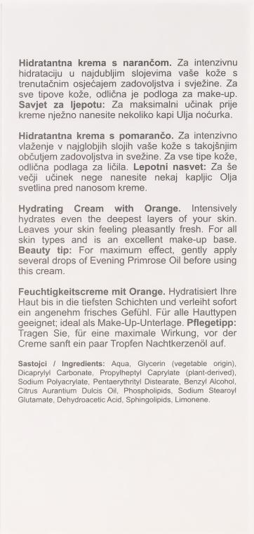 Nawilżający krem do twarzy z pomarańczą - Nikel Hydrating Cream With Orange — фото N3