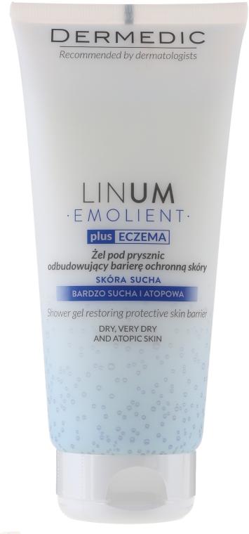 Emolientowy żel pod prysznic odbudowujący barierę ochronną skóry - Dermedic Emolient Linum