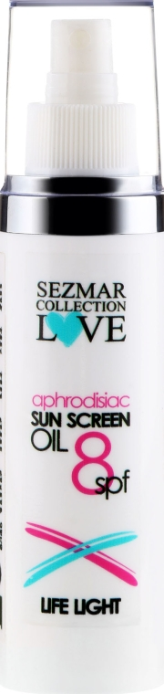Olejek przeciwsłoneczny z afrodyzjakami SPF 8 - Sezmar Collection Sun Screen Oil — фото N1