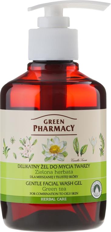 Delikatny żel do mycia twarzy do skóry mieszanej i tłustej Zielona herbata - Green Pharmacy