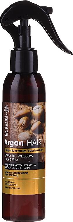 Spray do włosów ułatwiający rozczesywanie Olej arganowy i keratyna - Dr. Sante Argan Hair