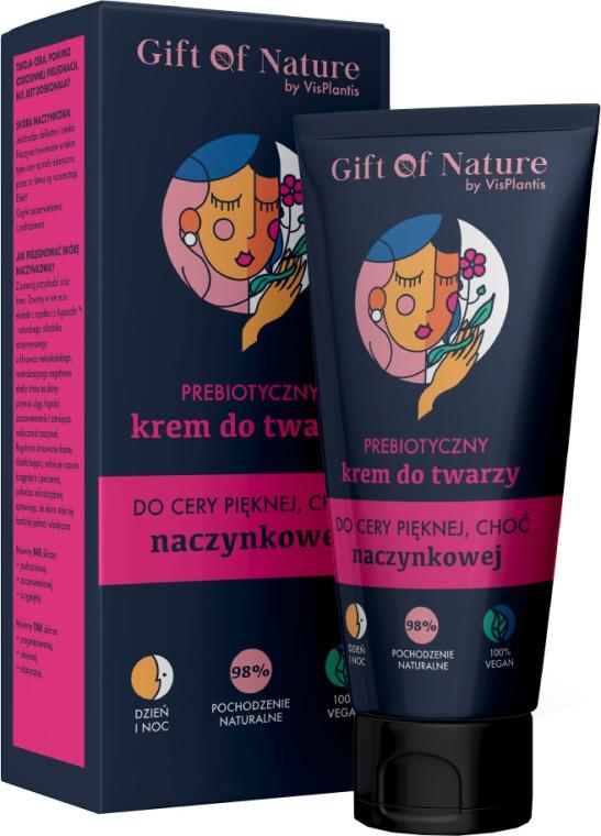 Prebiotyczny krem do twarzy do cery pięknej, choć naczynkowej - Vis Plantis Gift of Nature Face Cream