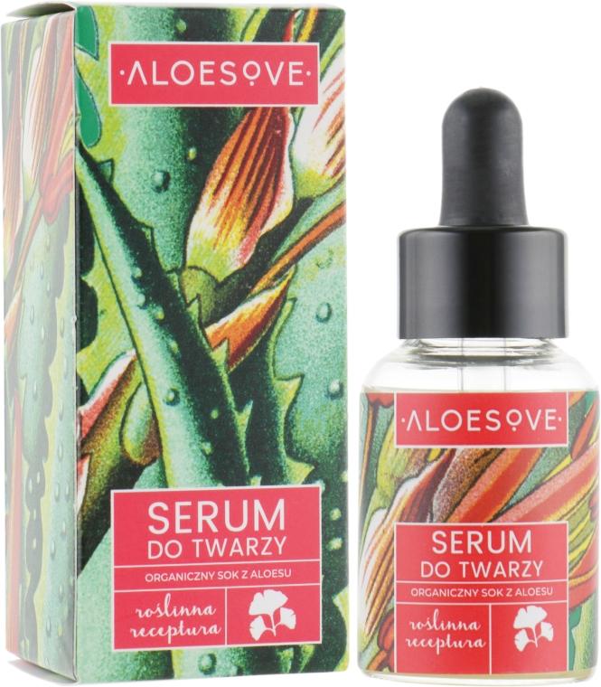 Serum do twarzy z organicznym sokiem z aloesu - Aloesove