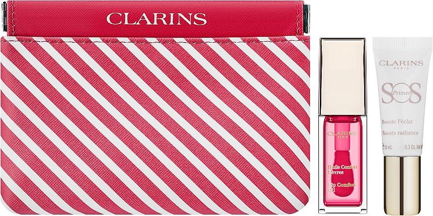 Zestaw - Clarins Candy Box (lip/oil/candy 7 ml + primer 10 ml + bag) — фото N1