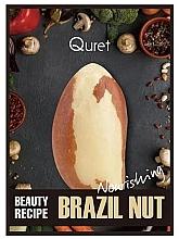 Kup Odżywcza maska do twarzy w płachcie - Quret Beauty Recipe Mask Brazil Nut Nourishing