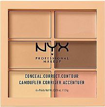 Kup Paletka do konturowania i rozświetlania twarzy - NYX Professional Makeup Conceal Correct Contour Palette