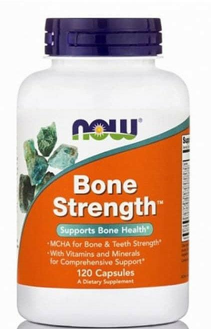 Suplement diety wspomagający kości, 120 kapsułek - Now Foods Bone Strength — фото N1