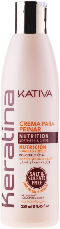 Keratynowy krem ułatwiający rozczesywanie włosów - Kativa Keratina Styling Cream