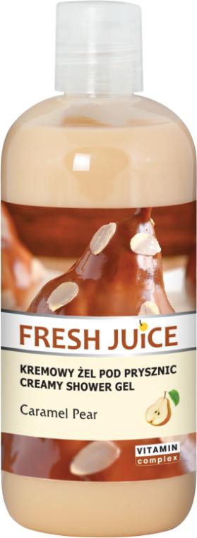 Kremowy żel pod prysznic Karmelizowana gruszka - Fresh Juice Caramel Pear Creamy Shower Gel