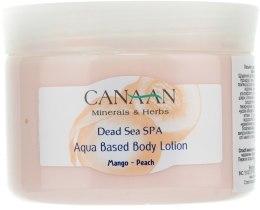 Kup Lotion do ciała Mango i brzoskwinia - Canaan Minerals & Herbs Aqua Based Body Lotion Mango-Peach