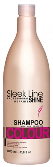 Szampon do włosów farbowanych - Stapiz Sleek Line Repair & Shine Colour Shampoo