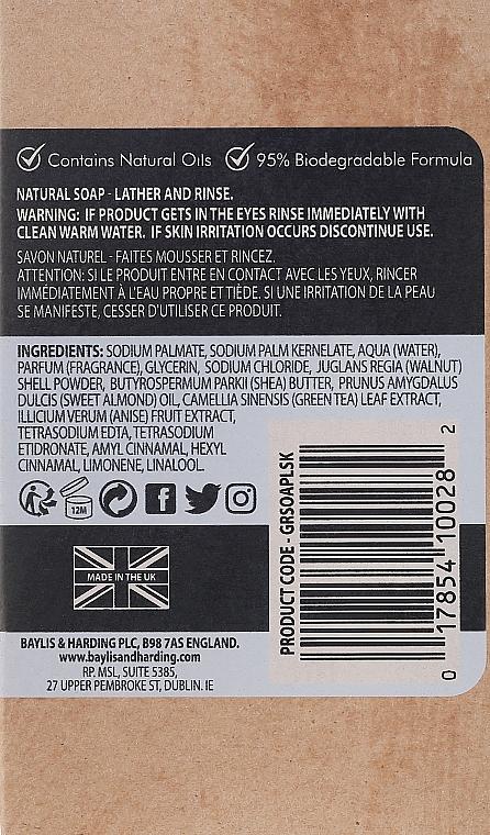 Naturalne mydło peelingujące w kostce - Baylis & Harding Goodness Sea Kelp & Peppermint Natural Bar Soap — фото N3