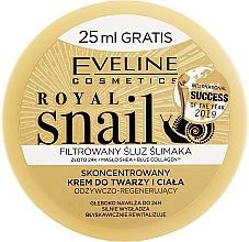 Kup Skoncentrowany krem odżywczo-regenerujący do twarzy i ciała - Eveline Cosmetics Royal Snail