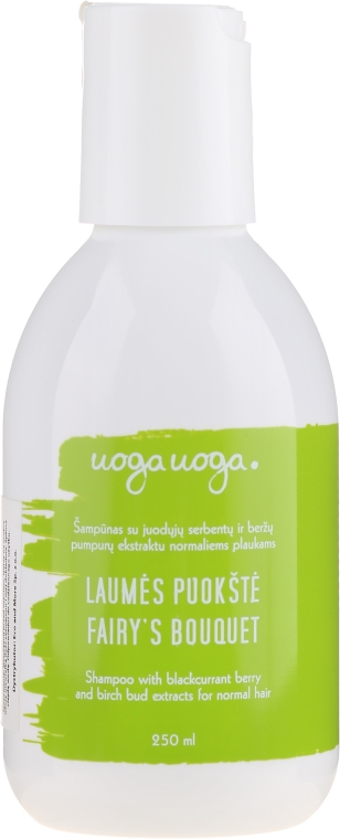 Naturalny szampon z owocami czarnej porzeczki i brzozowymi pąkami do włosów normalnych - Uoga Uoga Fairy's Bouquet Shampoo — фото N1