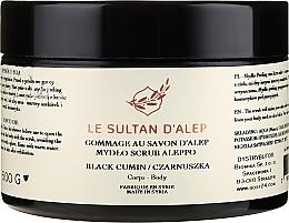 Kup Mydło-scrub do ciała Czarnuszka - Biomika Le Sultan d'Alep