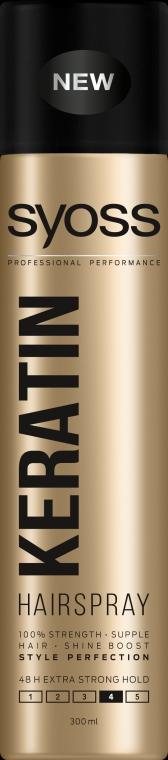 Ekstramocny lakier do włosów - Syoss Keratin Style Perfection Hairspray