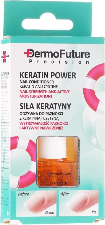"""Odżywka do paznokci """"Siła Keratyny"""" - Dermofuture Keratin Power Nail Conditioner Keratin&Cystine"""