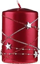 Kup Świeca dekoracyjna czerwona, 11x7cm - Artman Christmas Garland