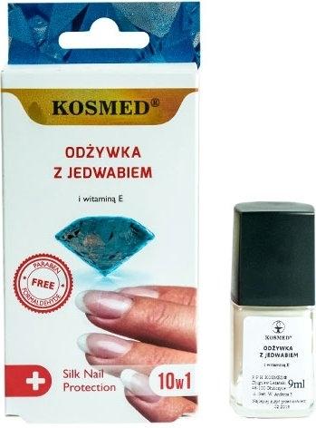 Odżywka z jedwabiem do paznokci 10 w 1 - Kosmed Silk Nail Conditioner
