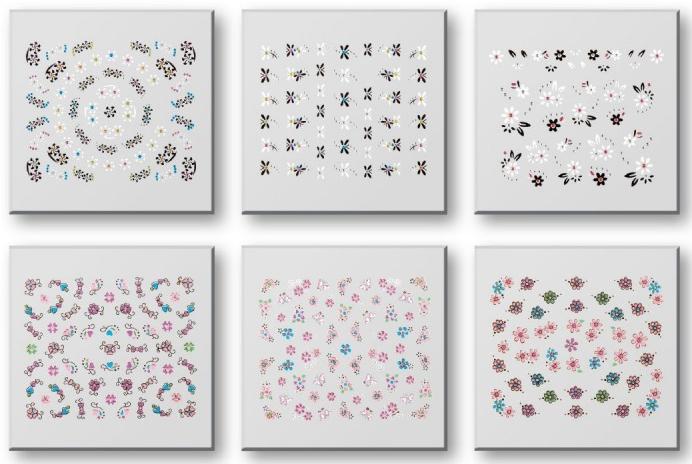 Zestaw naklejek do paznokci 42959 - Top Choice Nail Decorations Stickers Set — фото N1