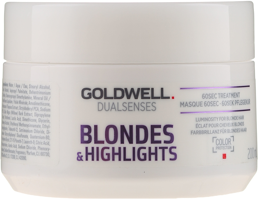 60 sekundowy balsam do włosów blond i z pasemkami - Goldwell DualSenses Blondes & Highlights 60sec Treatment