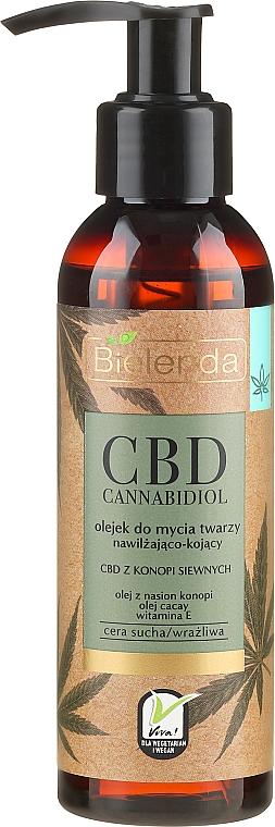 Nawilżająco-kojący olejek do mycia twarzy CBD z konopi siewnych - Bielenda CBD Cannabidiol Oil