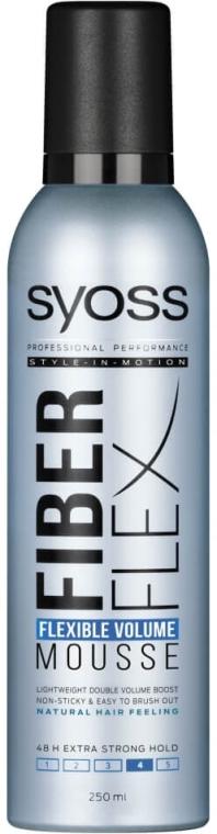 Pianka zwiększająca objętość włosów - Syoss Fiber Flex Flexible Volume Mousse — фото N1