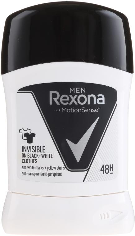 Antyperspirant w sztyfcie Invisible Black+White - Rexona Men Deodorant Stick — фото N1