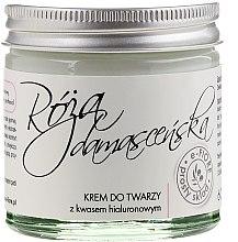 Kup Krem do twarzy z kwasem hialuronowym Róża damasceńska - E-Fiore