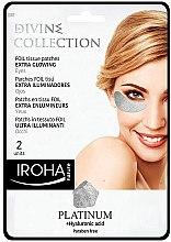 Kup Ekstrarozjaśniające płatki pod oczy Platyna i kwas hialuronowy - Iroha Nature Platinum + Hyaluronic Acid Extra Glowing Eyes Patches