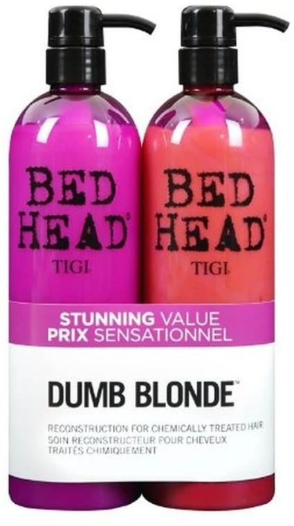 Zestaw - Tigi Bed Head Dumb Blonde Duo Kit (sh/750ml + cond/750ml) — фото N1