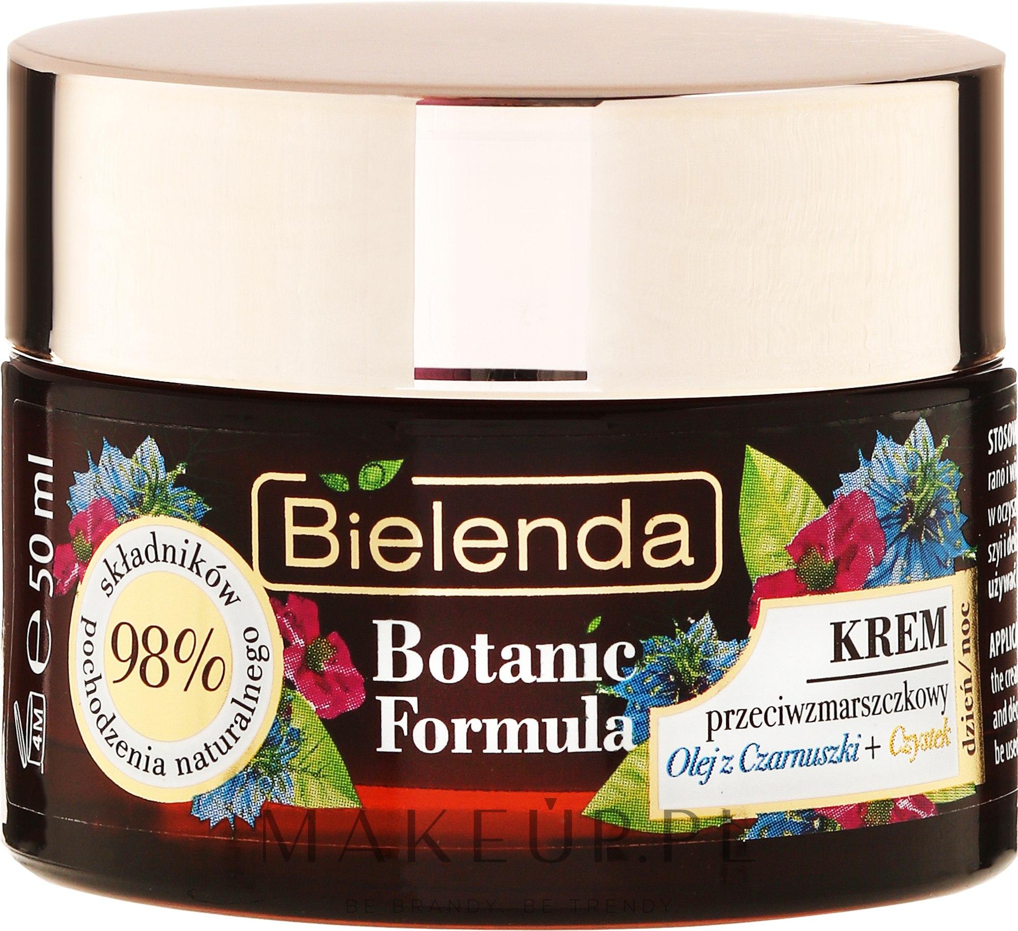 Krem przeciwzmarszczkowy na dzień i noc Olej z czarnuszki + czystek - Bielenda Botanic Formula — фото 50 ml