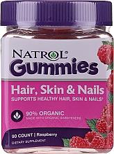Kup Malinowe żelki na zdrowe włosy, skórę i paznokcie - Natrol Hair, Skin & Nail Gummies Raspberry