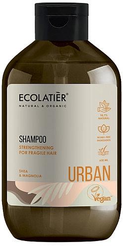 Szampon wzmacniający, Masło Shea i Magnolia - Ecolatier Urban Strengthening Shampoo — фото N1
