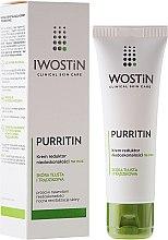 Kup Hipoalergiczny krem na noc redukujący niedoskonałości do skóry tłustej i skłonnej do zmian trądzikowych - Iwostin Purritin Reducing Imperfections Night Cream