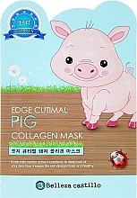 Kup Kolagenowa maska na tkaninie do twarzy Świnka - Belleza Castillo Edge Cutimal Pig Anti-Wrinkle Mask