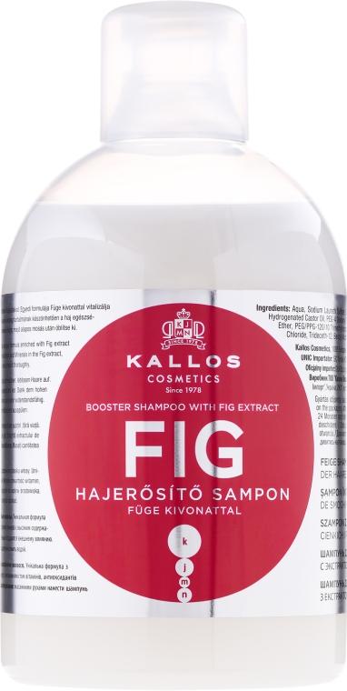 Wzmacniający szampon do włosów z wyciągiem z fig - Kallos Cosmetics Fig Booster Shampoo With Fig Extract