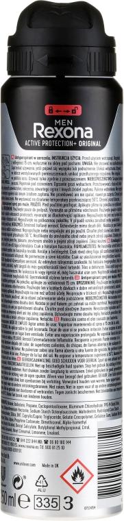 Dezodorant w sprayu dla mężczyzn - Rexona MotionSense Men Active Protection+ Original — фото N4