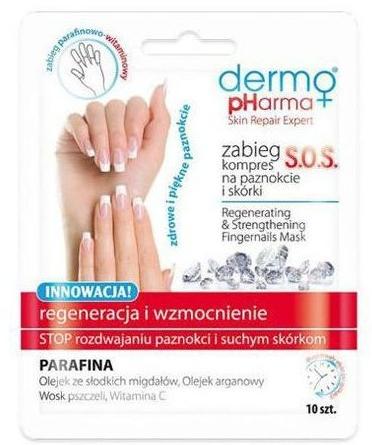 Zabieg kompres SOS na paznokcie i skórki Regeneracja i wzmocnienie - Dermo Pharma