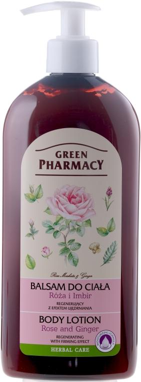 Regenerujący balsam do ciała Róża i imbir - Green Pharmacy